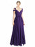Affordable Long Ingrid A-Line Sweetheart and Off the Shoulder Purple Bridesmaid Dress
