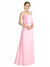 Affordable Bridesmaid Dress Kaylin in Barely Pink Color