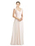 Affordable Long Arely A-Line Sweetheart Cream Pink Bridesmaid Dress