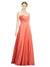 Affordable Long Jazlynn A-Line Sweetheart Firecracker Bridesmaid Dress