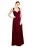 Affordable Long Dana A-Line Sweetheart Burgundy Bridesmaid Dress