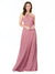 Affordable Long Chandler Skin Pink Bridesmaid Dress