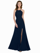 Affordable Themi Bridesmaid Dress in Dark Navy Color