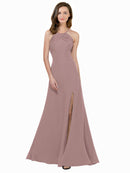 Affordable Themi Bridesmaid Dress in Dusty Pink Color
