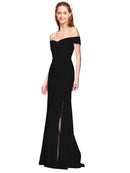 Affordable Jahnita Crepe Bridesmaid Dress Black