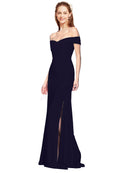 Affordable Jahnita Crepe Bridesmaid Dress Dark Navy