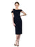 Affordable Kalyn Crepe Bridesmaid Dress Dark Navy