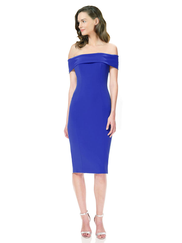 Affordable Carol Crepe Bridesmaid Dress Royal Blue