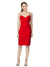 Affordable Bekki Crepe Bridesmaid Dress Red