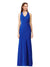 Affordable Sam Crepe Bridesmaid Dress Royal Blue