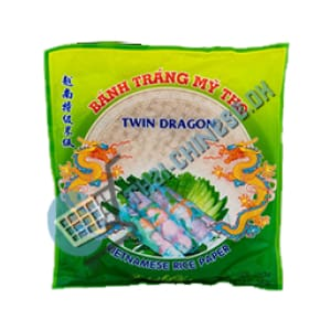 Twin Dragon Rispapir 22 Cm (Rund) 340 G