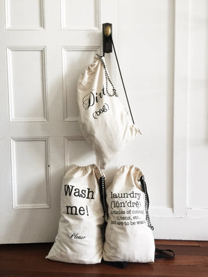 Laundry Bag, NYC Dirt Bag, Phonetic Laundry Bag