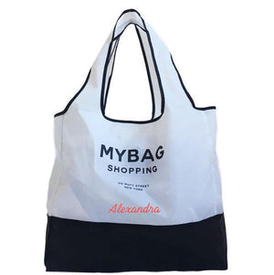 Folding Totes - World Traveler Monogram