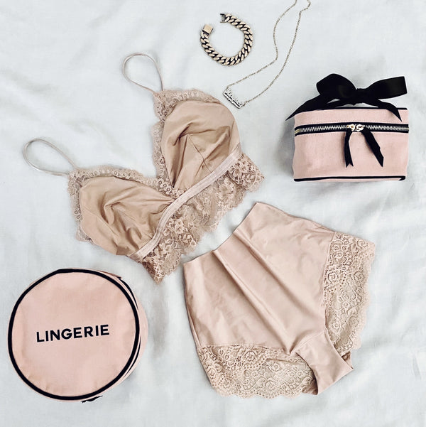 round lingerie case pink - bagall gcc