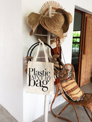 Plastic Ain't My Bag Tote - Trendy and Cute Organizing Bag