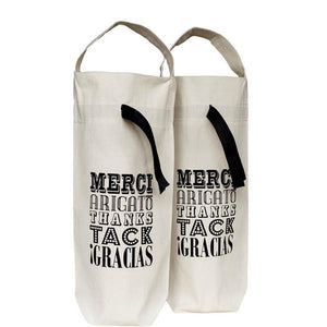 Wine Bag - Merci! - Available in 2-Pack and Single