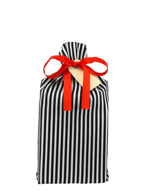 Gift Bag Small - Wrapping Bag with Black Stripes