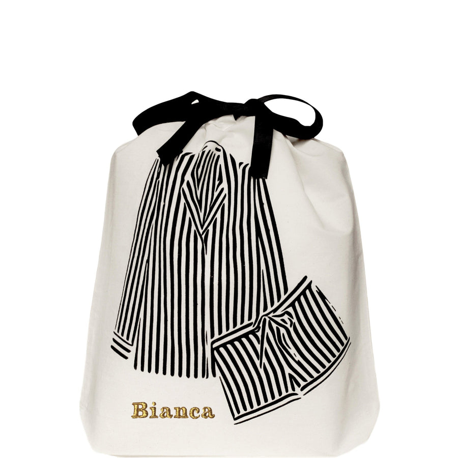 Striped Pajamas Bag - حقيبة بيجامة مخططة