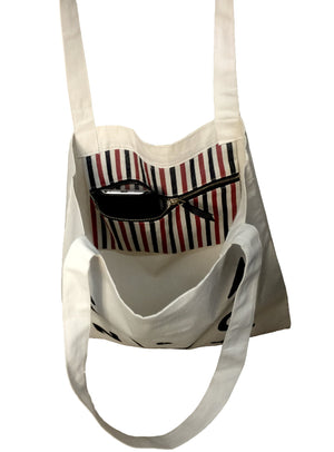 Plastic Ain't My Bag Tote - Comes with Two Zipper Pockets