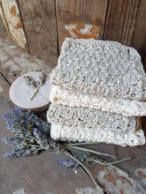 Crocheted cotton face cloths