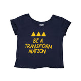 T-shirt Be a Transform Nation Azul