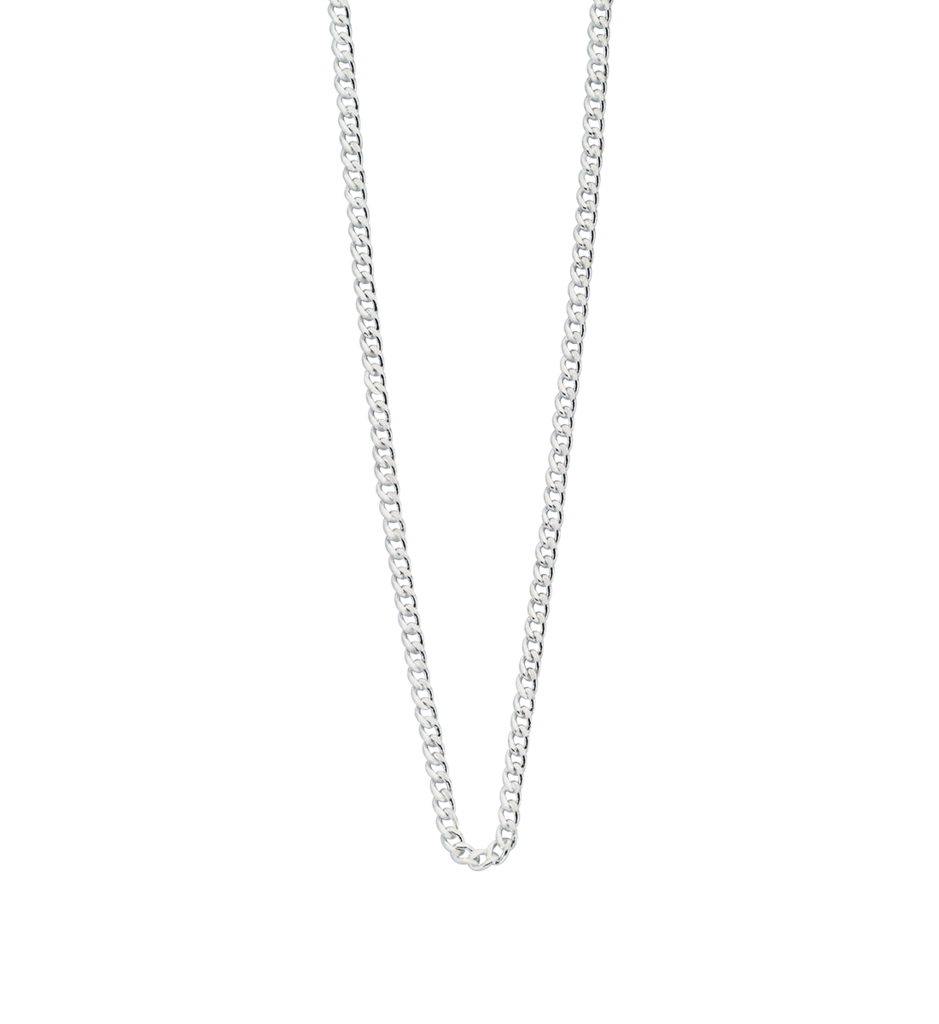 Sterling Silver Curb Chain 22 - 25