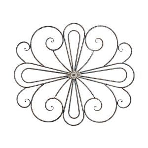 Metal Fleur with Moulded Centre Wall Art