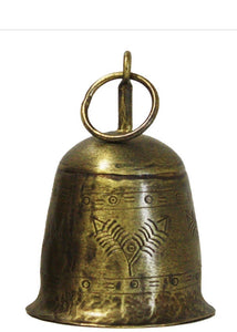 Antique Gold Etched Bell