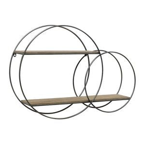 Two-Round Floating Shelves Wall Art