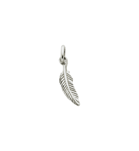 Load image into Gallery viewer, Sterling Silver Feather Charm