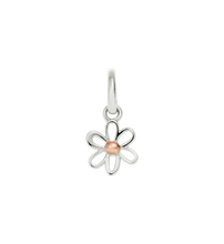 Load image into Gallery viewer, Mixed Metal Flower Charm