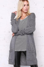 Load image into Gallery viewer, Olivia Long Cardigan Gunmetal
