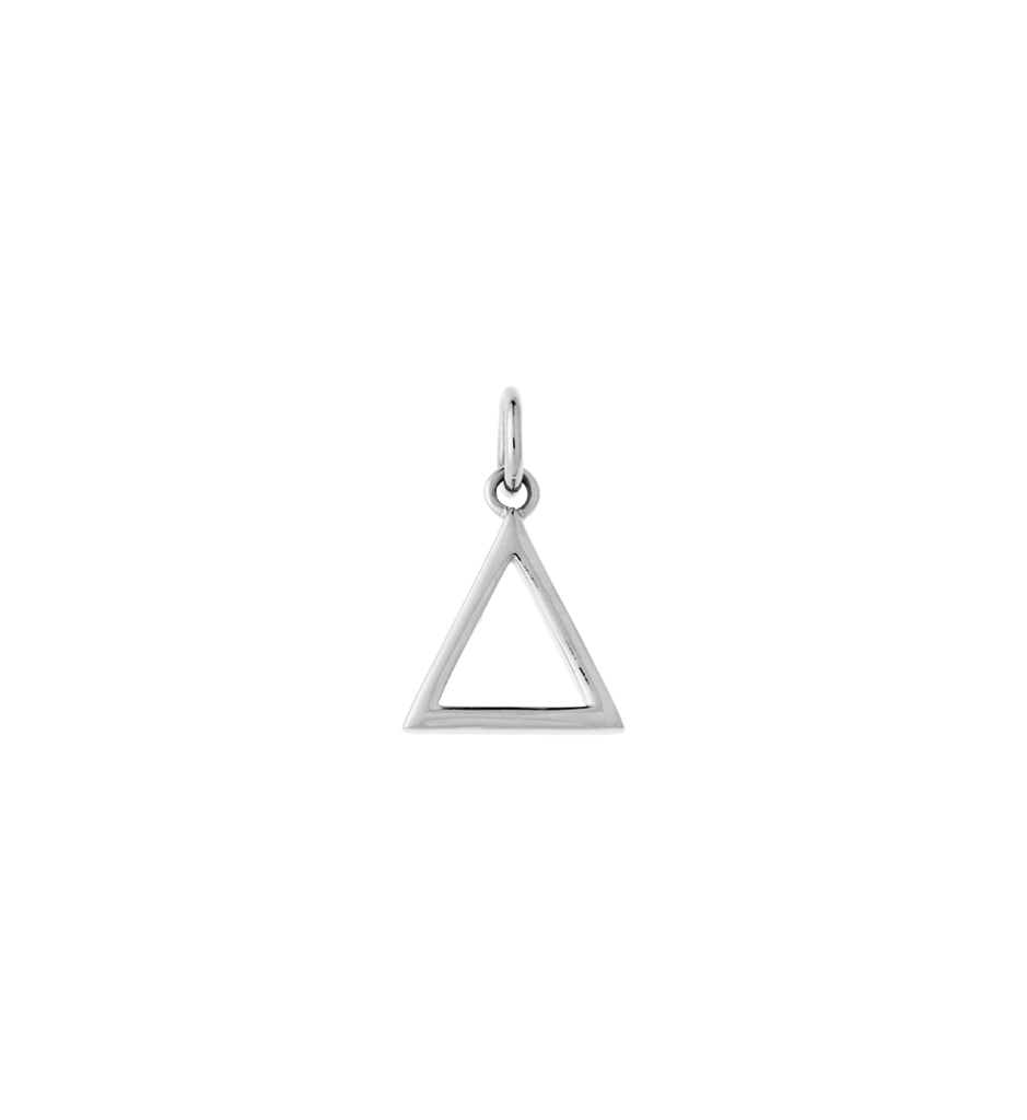 Bespoke Triangle Outline - Sterling Silver