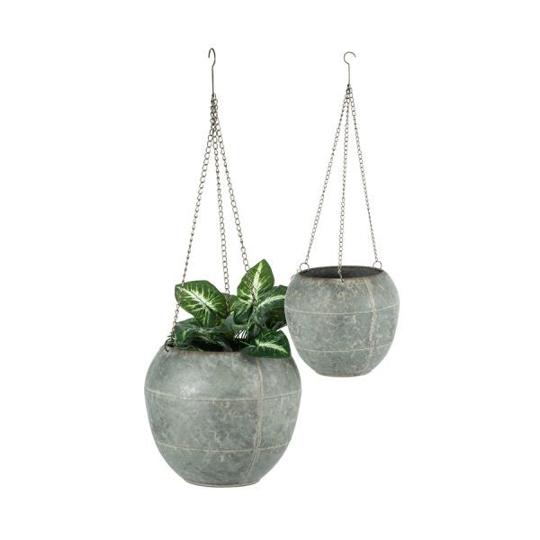 Hanging Galvanised Hanging Planter