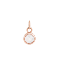 Load image into Gallery viewer, Round Rose Quartz Charm
