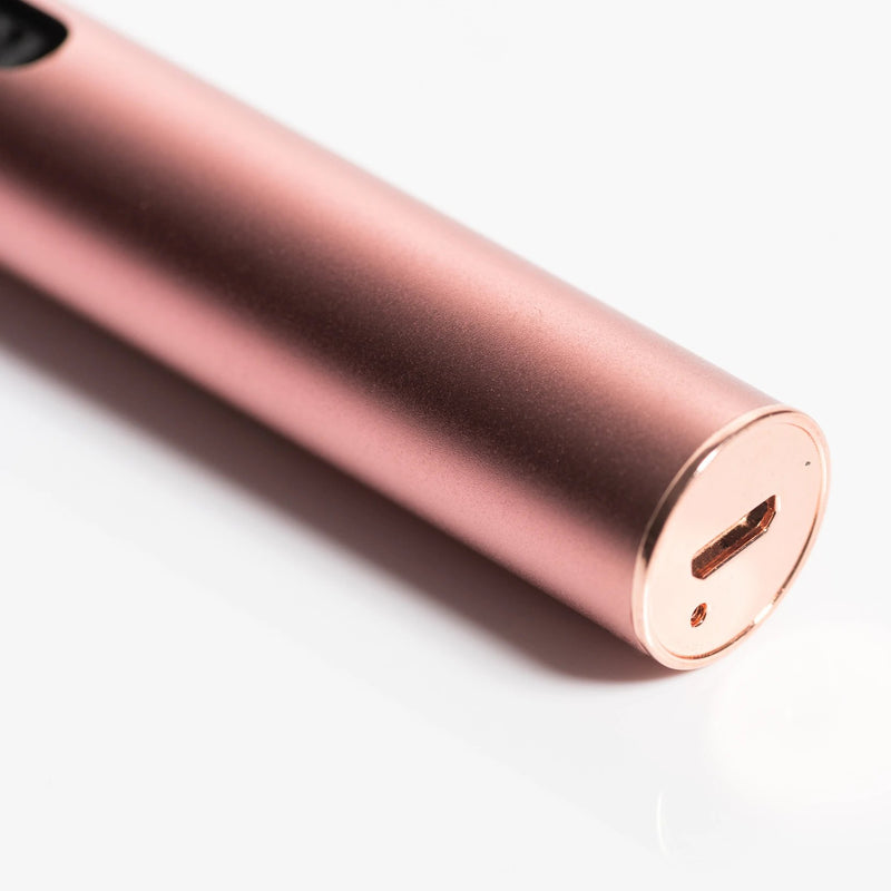 Vibrating Rose Quartz Roller - Haley Bogaert Face