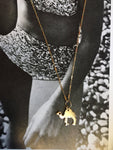 Solid Gold Camel 14k Necklace