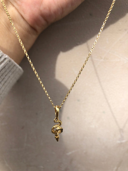 Tiny Snake Pendant *Gold Fill