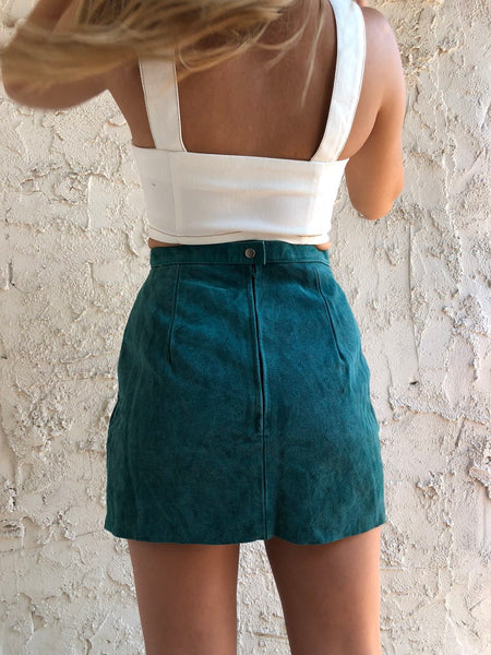 Emerald Suede Skirt