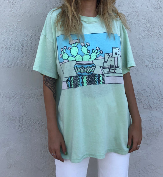 Lime Green Southwest Vintage T-shirt