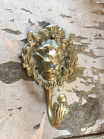 Brass Lion Head Hook