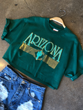Emerald & Gold Arizona Crop Tee
