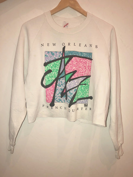 VTG New Orleans Crop Sweatshirt