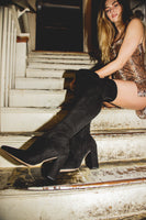 Emmy Black Studded Boots