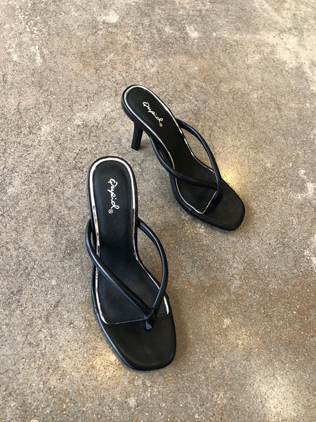 Black Thong Slides