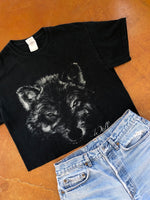 Wolf Facing the Wind Crop Tee
