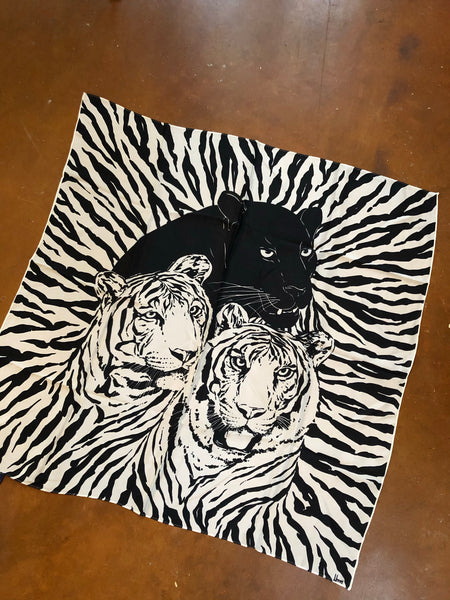 Silk Cats Scarf/ Tapestry