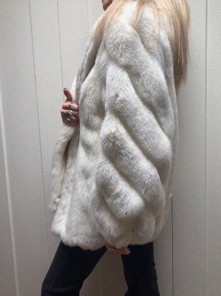 Foxy Vintage Faux Fur Coat