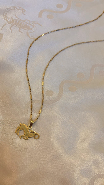 Solid Gold Aries Necklace