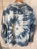 Bleach Dye Denim Top